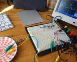 EC計の自作の準備のための実験画像。